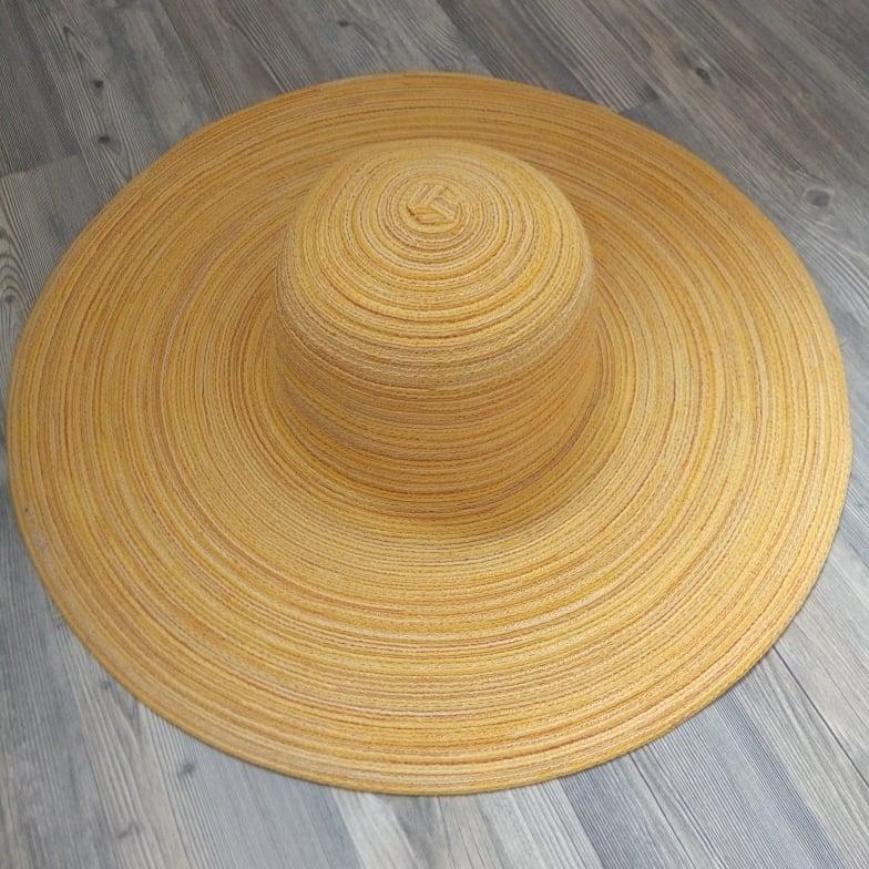 Женская шляпа с широкими полями летняя от солнца шляпка панамка пляжная