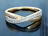 Кольцо Золотое Xuping Две Нити XP036