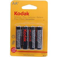 Батарейка Kodak 1.5V R6, АA щелочная, цена за 4 шт