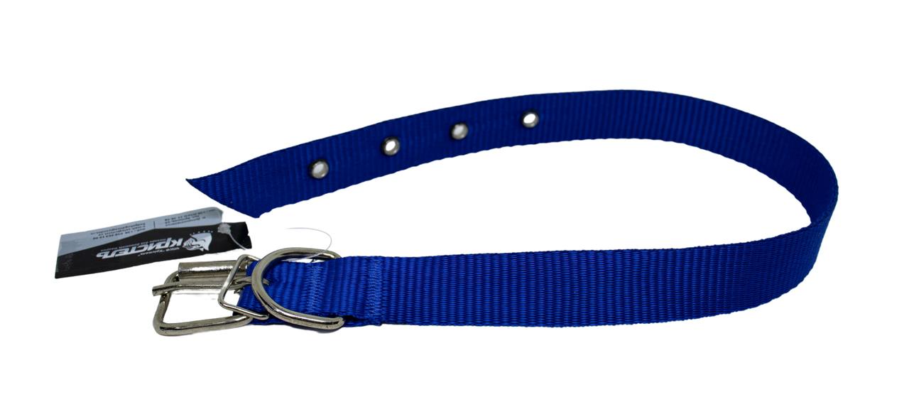 Нашийник (нейлон) синій 25мм/60см для собак КР1071-05