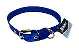 Нашийник (нейлон) синій 25мм/60см для собак КР1071-05, фото 2