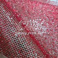 Стразовое термополотно, колір Lt.Siam (ss6) відрізок 1*24см