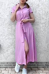 Літня сукня жіноча з коротким рукавом на гудзиках