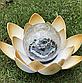 Садовий ліхтар на сонячній батареї Лотос, світлодіодний, водонепроникний, діам. 20см., фото 5