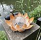 Садовий ліхтар на сонячній батареї Лотос, світлодіодний, водонепроникний, діам. 20см., фото 2