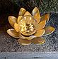 Садовий ліхтар на сонячній батареї Лотос, світлодіодний, водонепроникний, діам. 20см., фото 9