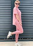 Костюм жіночий двійка з лосинами і футболкою, фото 5