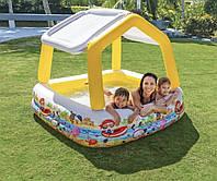 Детский надувной бассейн Аквариум со съемным навесом Интекс Intex 57470 Размер 157*157*122 см