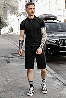 Мужской летний комплект футболка шорты LaCosta, летний мужской спортивный костюм