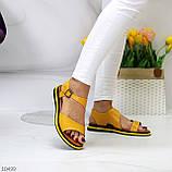 Босоніжки жіночі жовті натуральна шкіра, фото 2