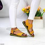 Босоніжки жіночі жовті натуральна шкіра, фото 6