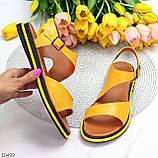 Босоніжки жіночі жовті натуральна шкіра, фото 9
