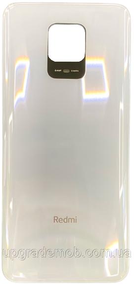 Задня кришка Xiaomi Redmi Note 9 Pro (64Mp) біла Glacier White оригінал