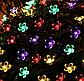 Садова гірлянда на сонячній батареї Квітуча вишня, багатобарвний, 100 led, 12 метрів., фото 6