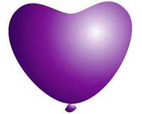 Воздушные шарики сердца фиолетовые однотонные 11 дюймов