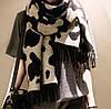 Шировий шерстяной шарф с принтом, фото 3