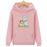 Худи Rick and Morty розовая толстовка 2019