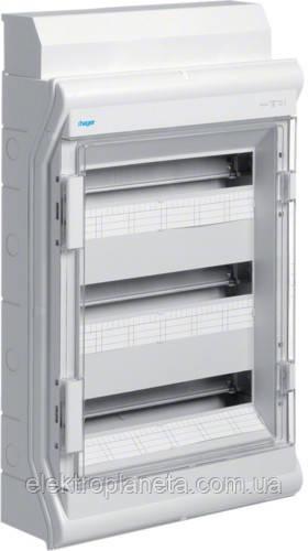 Щит розподільчий на 54(60) модулів, з/у з прозорими дверцятами, IP65, VECTOR