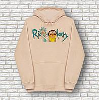 Худи A SHO Rick and Morty бежевая толстовка