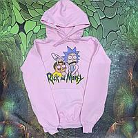 Худи A SHO Rick and Morty L розовый