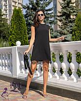 Жіноче молодіжне вільне плаття з мереживом, фото 3