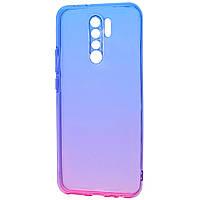 Силикон 0.5 mm Gradient Design Xiaomi Redmi 9 blue_pink, фото 1