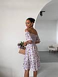 Літнє плаття в квітковий принт з відкритими плечима і акцентом на грудях (р. 40-44) 14032548, фото 4