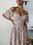 Літнє плаття в квітковий принт з відкритими плечима і акцентом на грудях (р. 40-44) 14032548, фото 6