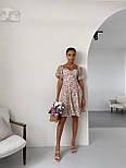 Літнє плаття в квітковий принт з відкритими плечима і акцентом на грудях (р. 40-44) 14032548, фото 7