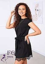 Жіноче молодіжне вільне плаття з мереживом, фото 2