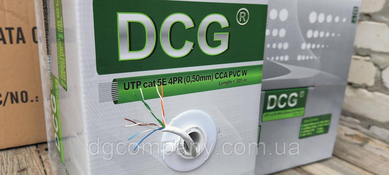 Кабель вита пара DCG UTP внутрішня 4х2х0,50(ВСА), 305м