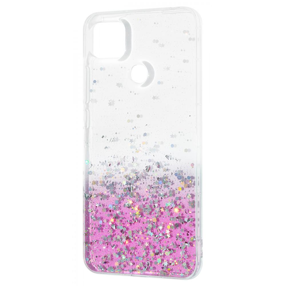 Накладка WAVE Confetti Case (TPU) Xiaomi Redmi 9C white/pink