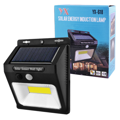Настінний вуличний світильник  PIR+CDS, сонячна батарея