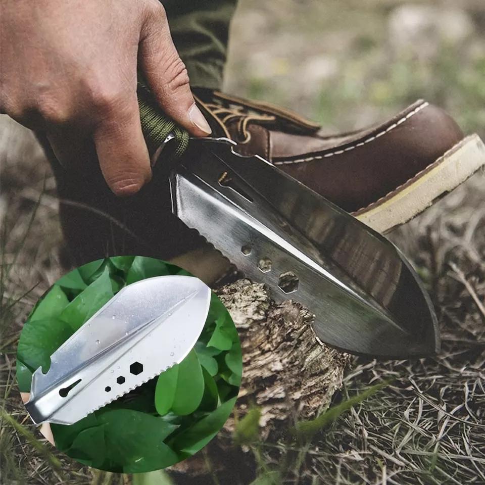 Багатофункціональна нержавіюча лопатка мультитул, для садівників, риболовлі, туризму, в автомобіль.