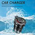 Автомобильное зарядное + ВОЛЬТМЕТР (12 В - 24 В) / Быстрая зарядка QC 3.0 / Адаптер питания / Розетка 2xUSB, фото 8
