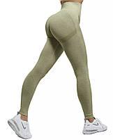Женские лосины с эффектом пуш-ап для занятий спортом, фитнесом, йогой, бегом