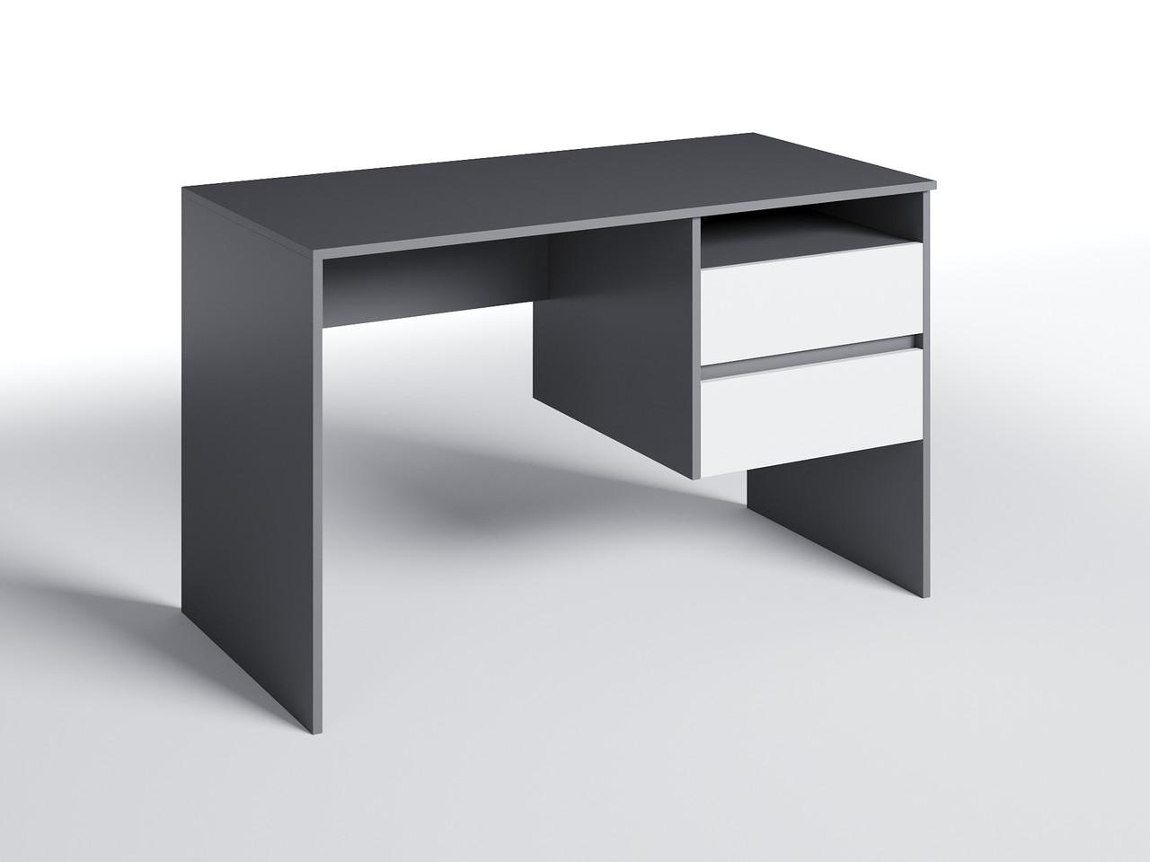 Письменный стол СП-8 с тумбой Антрацит/Белый