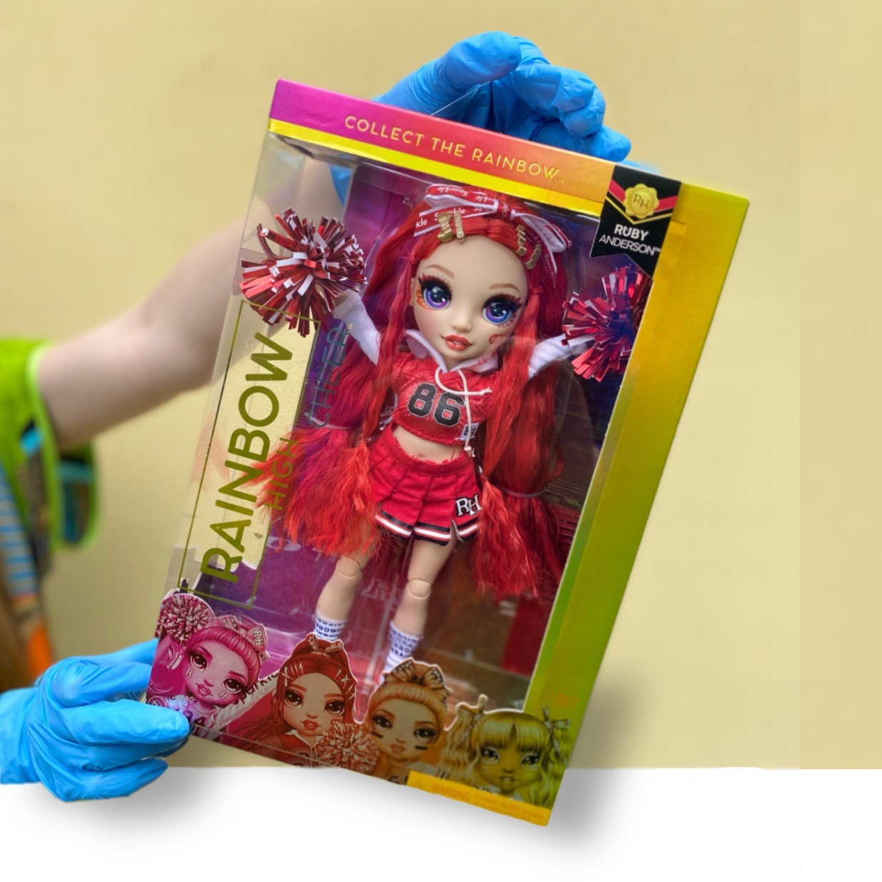Лялька Рейнбоу Хай Рубі Черлідер Оригінал Rainbow High Cheer Ruby Anderson - Red (572039EUC)