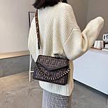 Сумка жіноча Fendi з широким ременем, фото 3