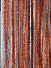 Шторы нити Радуга Дождь кисея 3х3м Белый Терракотовый Оранжевый с люрексом