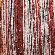 Шторы нити Радуга Дождь кисея 3х3м Белый Розовый Красный с люрексом