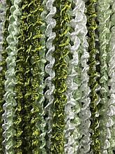 Шторы нити Спиральки Радуга  3х3м Белый Салатовый Оливковый