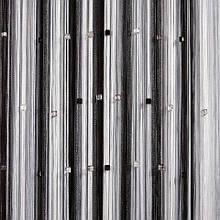 Шторы нити Радуга 3х3м Белый Серый Черный с квадратным стеклярусом