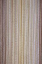 Шторы нити Радуга Дождь 1х2м Белый Молочный Бежевый с люрексом