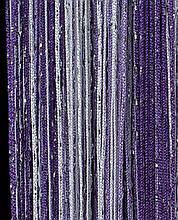 Шторы нити Радуга Дождь 1х2м Белый Сиреневый Фиолетовый с люрексом