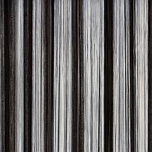 Шторы нити кисея Радуга 3х3м Белый Серый Черный без люрекса