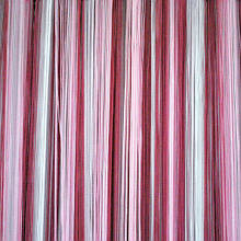 Шторы нити кисея Радуга  3х3м Белый Розовый Фрезовый без люрекса