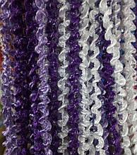 Шторы нити Спиральки Радуга 3х3м Белый Сиреневый Фиолетовый