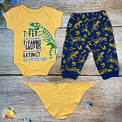 """Боді і штанці для малюка """"Динозавр"""" Розміри: 3 та 6 місяців (02017)"""