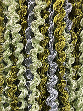 Шторы нити Спиральки Радуга 3х3м Серый Салатовый Оливковый